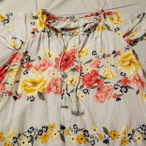 Old Navy Flowered Blouse